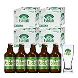 [WEB限定]サッポロ エーデルピルス 瓶 305ml×5本セット(グラス付き) ケース販売