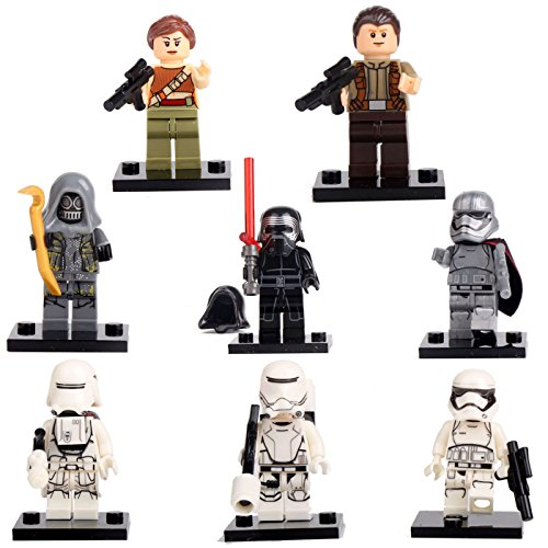 Star Wars The Force Awakens Kylo Ren Rey 8 Minifigures building bricks Toys lEGO (Lego Star Wars Characters Package compare prices)