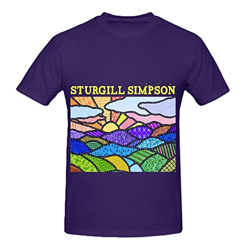 Sturgill Simpson High Top Mountain 80s Album Mens O Neck Art Tee Shirts Purple (Huge Heavy Ti compare prices)