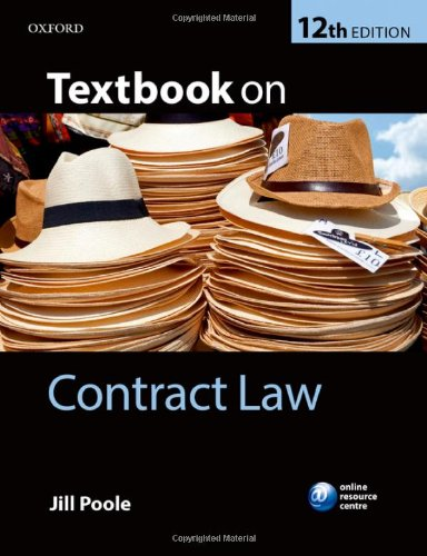 Textbook On Contract LawMalaysia Online BookstoreJill Poole - Online contract law