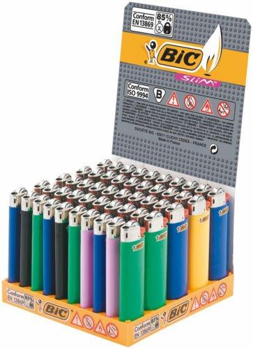 50-accendini-bic-slim-j23-a-pietra-set-di-colori