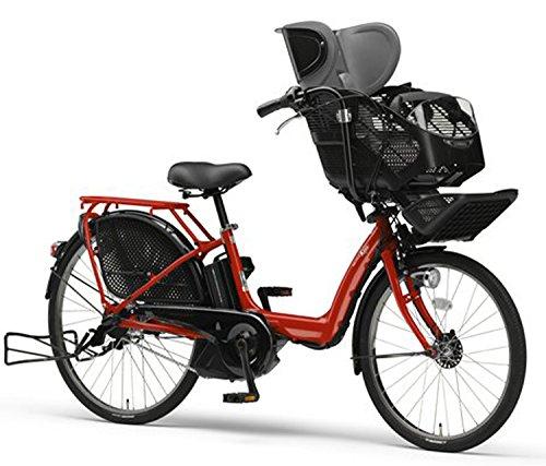 YAMAHA(ヤマハ) PAS Kiss チャイルドシート付き電動自転車 26インチ 2015年モデル [8.7Ahリチウムイオン電池、トリプルセンサーシステム、急速充電器付] エスニックレッド PM26K
