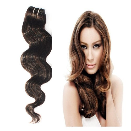 Yesurprise Top Quality 100G Indian Remy Body Wave Curly Real Human Weave Weft Hair Extensions 22""