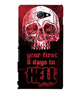 Skull Hell Days 3D Hard Polycarbonate Designer Back Case Cover for Sony Xperia M2 Dual D2302 :: Sony Xperia M2