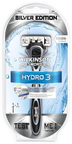 Wilkinson - Rasoio Hydro 3, lame One Up, edizione argento