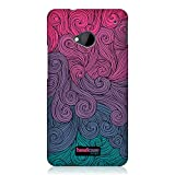 Head Case Designs Vivid Swirls Protective Snap-On Hard Back Cover Case for HTC One - Hot Pink and Teal