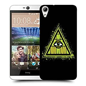 Snoogg Triangle Eye Designer Protective Back Case Cover For HTC 826
