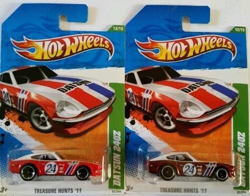 2011 Hot Wheels Regular & Super Treasure Hunt 12/15 - Datsun 240Z (Super Treasure Hunt Datsun compare prices)