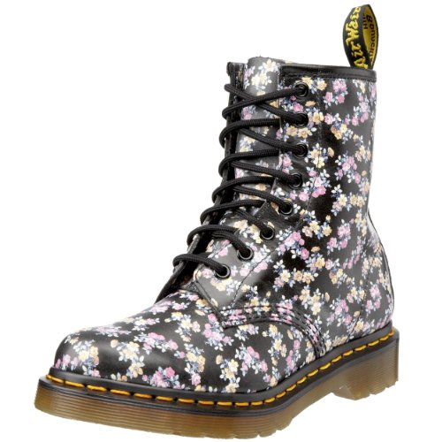 Dr. Martens Womens Floral 1460 Black 11821010 7 UK D