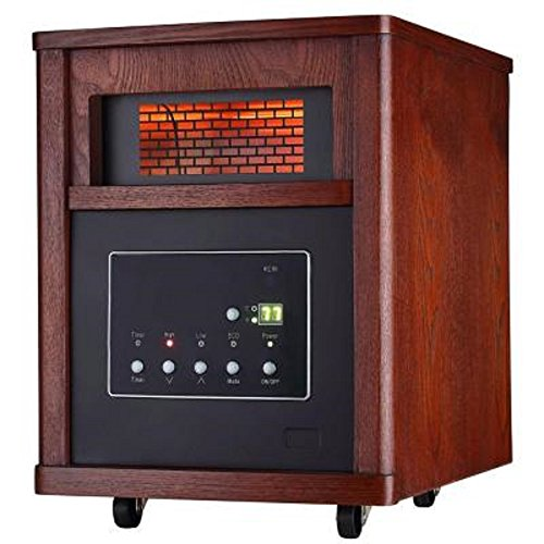 1500-Watt Infrared Electric Portable Heater with 6 Quartz Element (Heat Wave Heater Infrared compare prices)