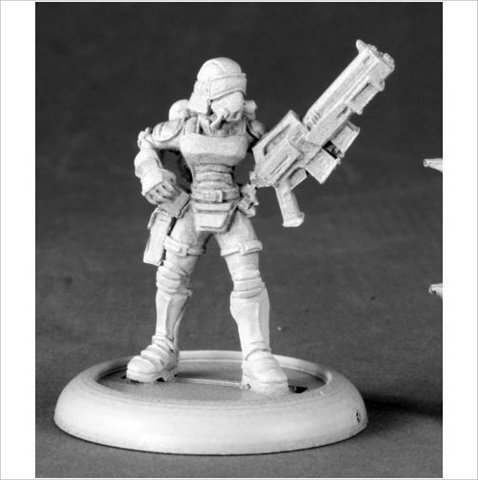 Reaper Miniatures 50146 Female Nova Corp Officer by Reaper