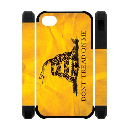3D Dont Tread On Me Best Custom Cell Phone Case Cover for iPhone 4, iPhone 4S at Amazon.com