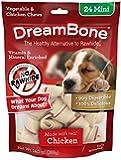 DreamBone Chicken Dog Chew, Mini, 24-count
