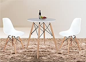 Vecelo Eames Chair Natural Wood Legs Eiffel Dining Chair/lounge Chair, Set of 2 from VECELO