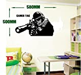 Call of Duty style SNIPER GAMER TAG COD Boys Bedroom wall art sticker PS3 XBOX 28 colours SZSSG 580mm x 500mm