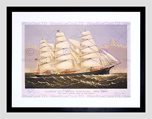 paintings-three-brothers-clipper-ship-sail-mast-sea-framed-art-print-b12x9946