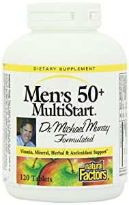 Natural Factors Dr. Murray Multistart Mens 50+ Tablets, 120-Count