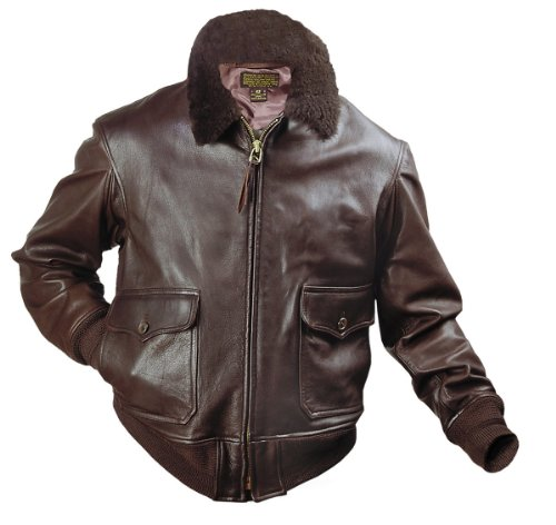 Us Authentic Men'S G-1 Navy Leather Flight Jacket 46R Seal Brown