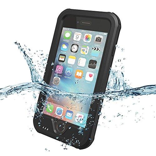 ZVE iPhone6ケース/iPhone6s ケース 4.7インチ 防水ケース アイフォン6s/6用 防塵 耐衝撃カバ ー 指紋認識可 液晶保護フィルム,アームバンド付き(iphone6/6s ブラック)
