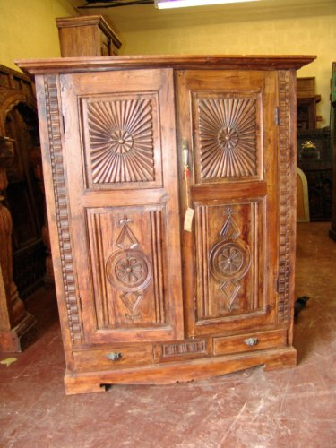 Small Tv Armoire India Furniture Antique Armoire Tv Cabinet Carved Rustic Huge Chest From India