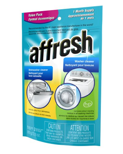 Whirlpool Affresh Value Pack Washer Cleaner Tablet and 2 Dishwasher Cleaner Tablets, 1-Pack