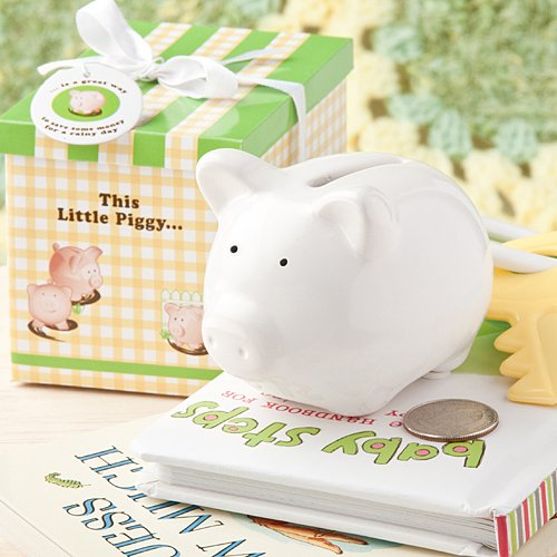 This Little Piggy White Ceramic bank.., 1