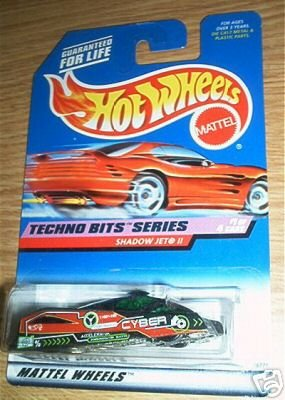 Mattel Hot Wheels 1998 1:64 Scale Techno Bits Series Black Shadow Jet II Die Cast Car 1/4