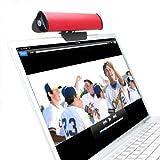 Altavoz con Pinza para Ordenador Portátil, Tablet o Pantalla- Compatible con HP Stream 11-d015ns , HP G3 Pro / Acer Aspire E5-571-39GE , E5-571-51SL / Toshiba Satellite P50-B-10Z ... ¡y muchos otros! Color Rojo - GOgroove SonaVERSE USB .