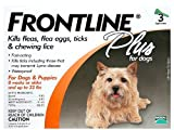 Frontline DFRSMPLUS 3-Pack 11 to 22-Pound Plus Dogs Flea and Tick Treatment, Small, Orange