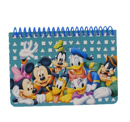 Disney Mickey Mouse and Friends Spiral Autograph Book - Teal - 1