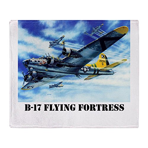 CafePress B-17 Flying Fortress Throw Blanket - Standard Multi-color