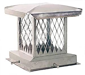 The Forever Cap CCSSE1717 17 x 17-Inch Stainless Steel Single Flue Diamond Mesh Chimney Cap