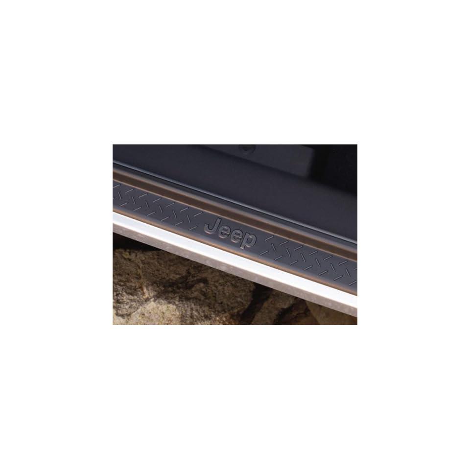Mopar 82210106 OEM Jeep Wrangler Black Door Sill Plates with Jeep Logo   JK   4 Pc Front & Rear Set