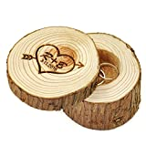 Custom Wood Wedding Ring Box Wedding Ring Bearer, Personalized Rustic Wedding Ring Box