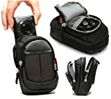 Navitech Black Digital Camera Case Bag ForThe Canon IXUS 510 HS / 255 HS / 240 HS / 140 / 135