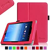 Fintie E FUN Nextbook Premium 8HD SE NX008HD8G Tablet Folio Case Cover - Premium Leather With Stylus Holder 3 Years Warranty [June 2013 Wal-Mart Release] - Magenta