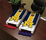 NCAA Michigan Wolverines Desktop Mini Cornhole Game Set