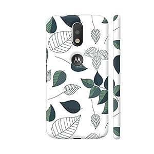 Colorpur Green White Leaves Artwork On Motorola Moto G4 / Moto G4 Plus Cover Cover (Designer Mobile Back Case) | Artist: Abhinav