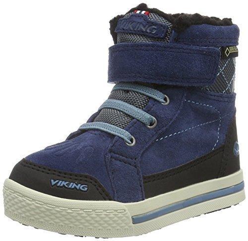 Viking Folda - Sneakers Alte Unisex - Bambini, Blu (Dark Blue/Mid Blue 7649), 29