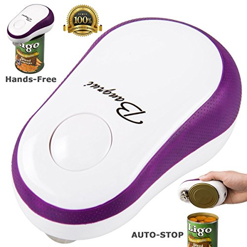 BangRui Soft Edge Automatic Can Opener Safety One Button Start and Auto-Stop Can Opener--Purple (One Button Can Opener compare prices)