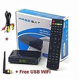Freesat V7 HD 1080P DVB-S2 Digital satellite TV Receiver + 1pc AV Cable + USB Wifi
