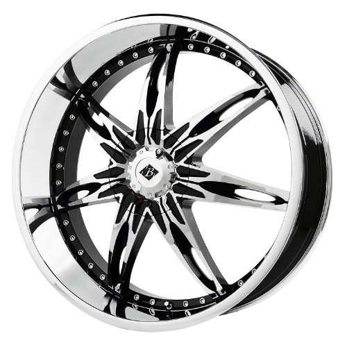 51Vc3jnD4AL Black Ice Alloys Nocturno Black Wheel with Chrome Finish