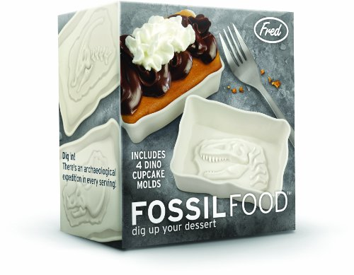 "Lifetime Brands Inc. Fossil Food Cake Molds, 3D ""Fossil"" at Bottom"
