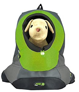Wacky Paws Pet Backpack, X-Large, Green