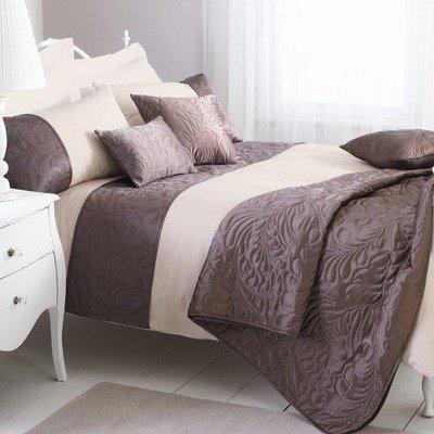 Dreams 'n' Drapes Amarante Bedspread, 100 x 100-inch, Mocha
