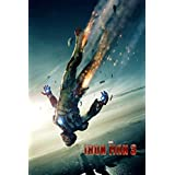 Iron Man 3 (A) - Large Movie Poster - 24x36 Inch SATIN Material