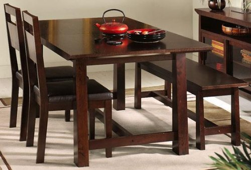 """Tong Dining Table, 30""""Hx74""""W, WENGE"""