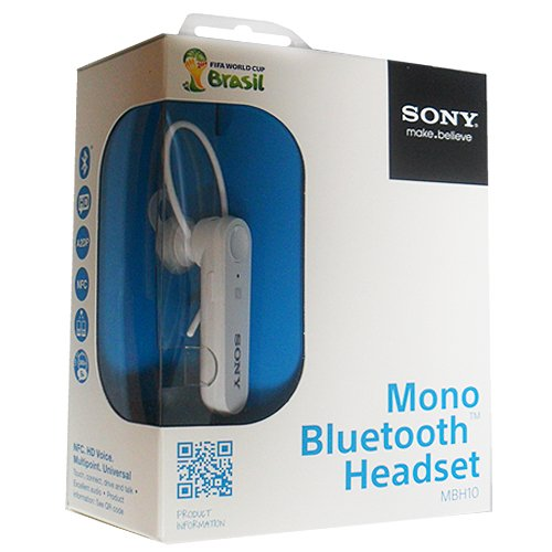 Best Deal Sony Mbh10 Mono Bluetooth Headset White Top Bluetooth Headsets
