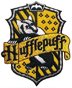 Harry Potter Hogwart's Hufflepuff House Emblem Embroidered Iron or Sew-On Patch Art & Craft