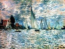 12X16 inch Claude Monet Impressionist Canvas Art Repro sailboats